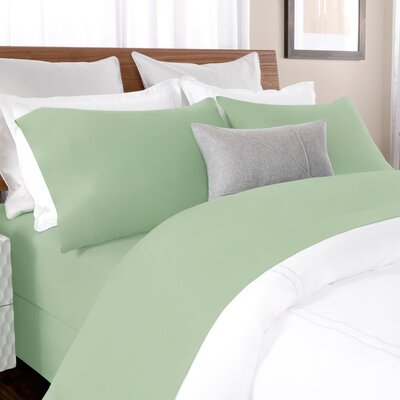 100% Cotton Solid Percale Sheet Set Size: King, Color: Spruce Green