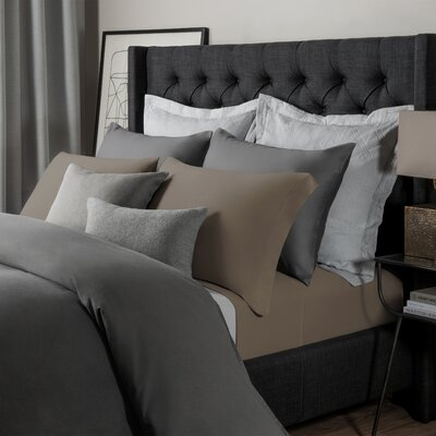 Solid Jersey Sheet Set Size: King, Color: Fossil
