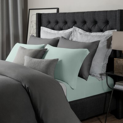 Solid Jersey Sheet Set Size: King, Color: Blue Haze