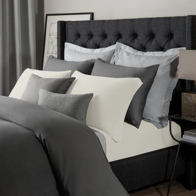 Solid Jersey Sheet Set Size: King, Color: Parchment
