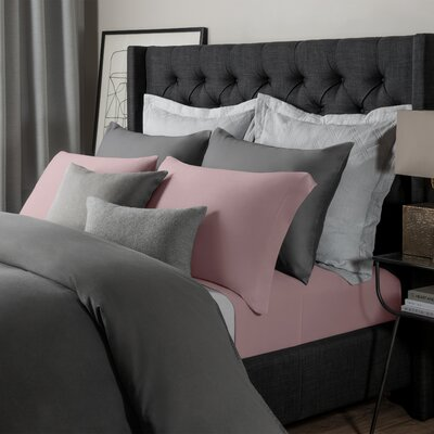 Solid Jersey Sheet Set Size: King, Color: Rose