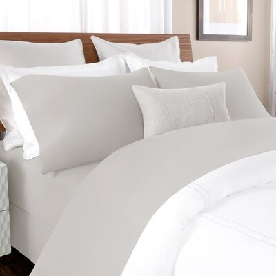 100% Cotton Solid Percale Sheet Set Size: Cal King, Color: Silver Gray