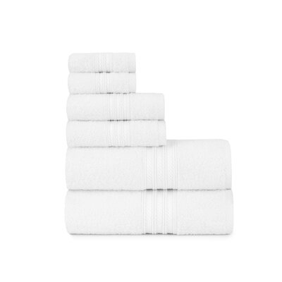 Luxury Soft Ring Spun 6 Piece Towel Set Color: White