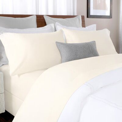100% Cotton Solid Percale Sheet Set Size: Full, Color: Beige