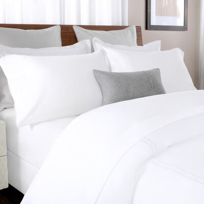 100% Cotton Solid Percale Sheet Set Color: White, Size: Queen