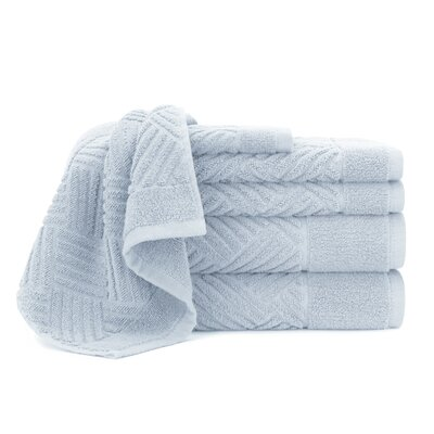 Jacquard Bars 6 Piece Towel Set Color: Cashmere Blue