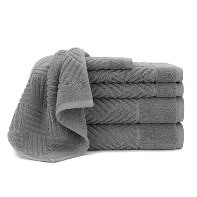 Jacquard Bars 6 Piece Towel Set Color: Steel Gray