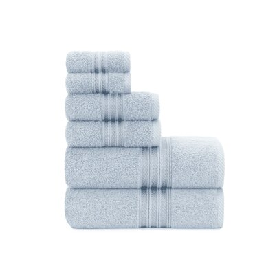 Luxury Soft Ring Spun 6 Piece Towel Set Color: Cashmere Blue