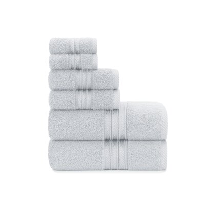 Luxury Soft Ring Spun 6 Piece Towel Set Color: Vapor Blue