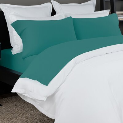100% Cotton Solid Jersey Sheet Set Size: Queen, Color: Teal
