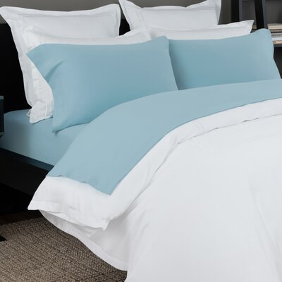 100% Cotton Solid Jersey Sheet Set Size: Cal King, Color: Blue