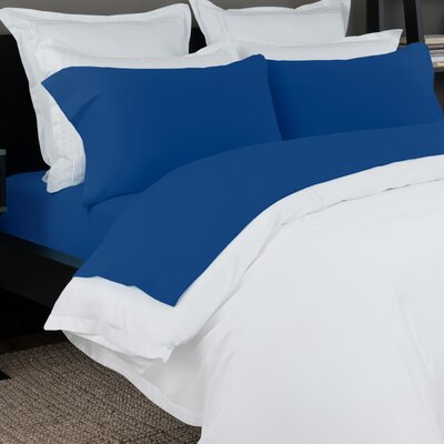 100% Cotton Solid Jersey Sheet Set Size: Full, Color: Cobalt Blue