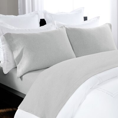 100% Cotton Heathered Jersey Sheet Set Size: Full, Color: Gray