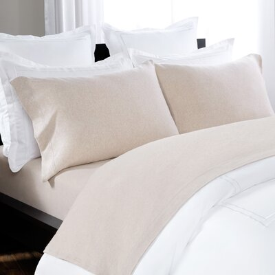 100% Cotton Heathered Jersey Sheet Set Size: Queen, Color: Oatmeal