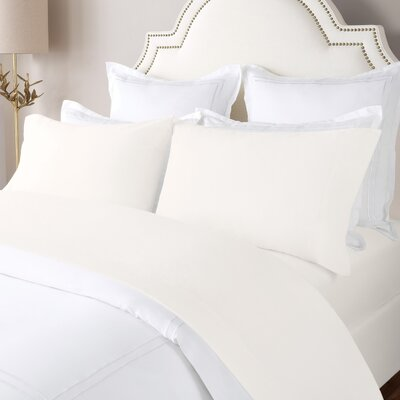 100% Cotton Solid Flannel Sheet Set Size: King, Color: Ivory