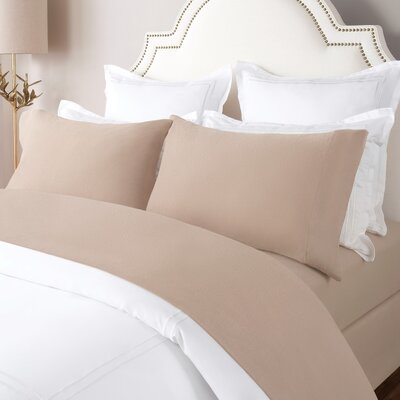 100% Cotton Solid Flannel Sheet Set Size: King, Color: Taupe