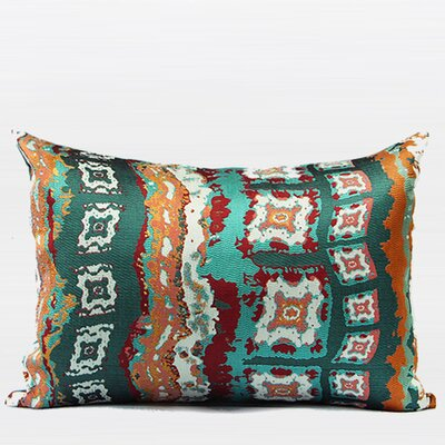 Luxury Tribe Jacquard Lumbar Pillow Color: Green