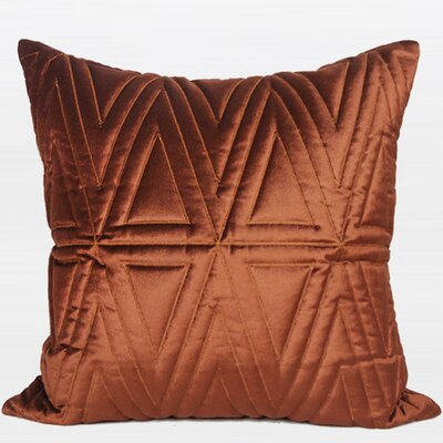 Luxury Quilting Pillow Cover Color: Red Brown