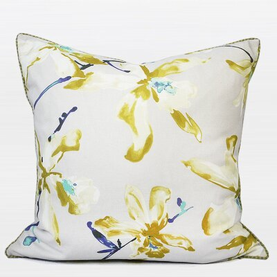 Luxury Throw Pillow Color: Yellow