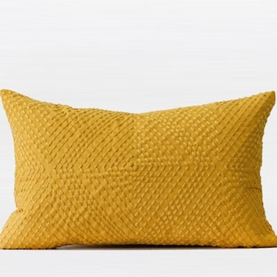 Luxury Embroidered Lumbar Pillow Color: Yellow