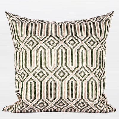 Luxury Classical Embroidered Throw Pillow Color: Green