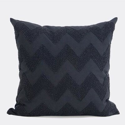 Luxury Chevron Embroidered with Bead Throw Pillow