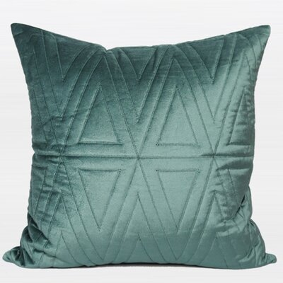 Luxury Quilting Throw Pillow Color: Lack Blue