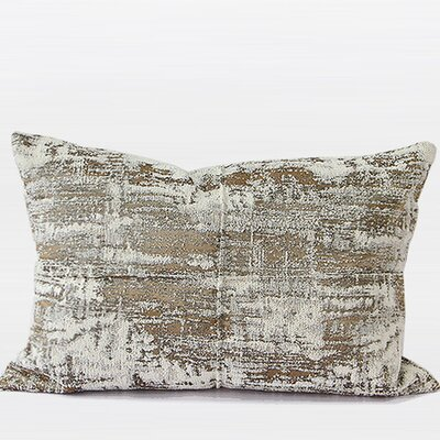 Luxury Chenille Lumbar Pillow Color: Light Gold