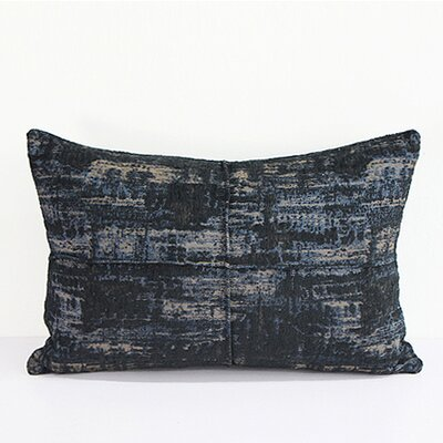 Luxury Metallic Chenille Lumbar Pillow Color: Blue