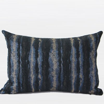 Luxury Stripe Pattern Chenille Lumbar Pillow Color: Blue