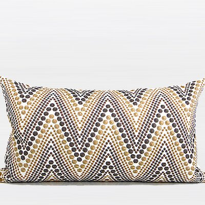 Luxury Chevron Embroidered Lumbar Pillow