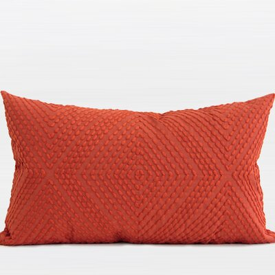 Luxury Embroidered Lumbar Pillow Color: Tangerine