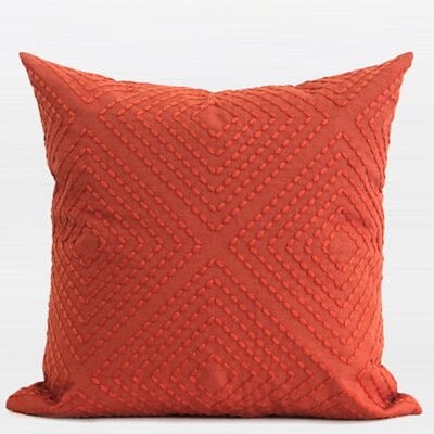 Luxury Embroidered Pillow Cover Color: Tangerine
