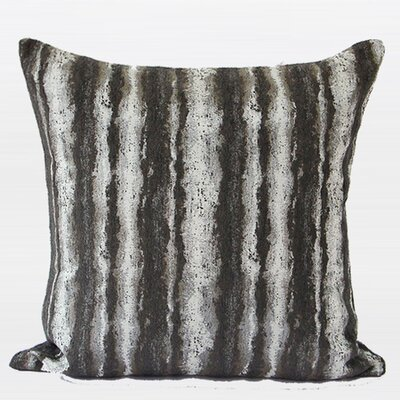 Luxury Stripe Metallic Chenille Pillow Cover Color: Brown