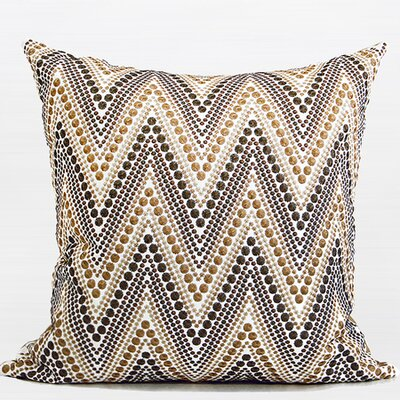 Luxury Chevron Embroidered Throw Pillow Color: Metallic