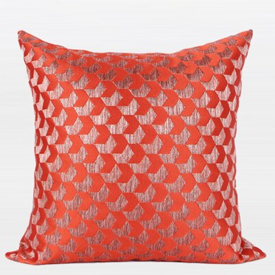 Luxury Arrows Jacquard Throw Pillow Color: Tangerine