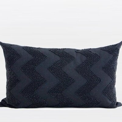 Luxury Embroidered 100% Cotton Lumbar Pillow