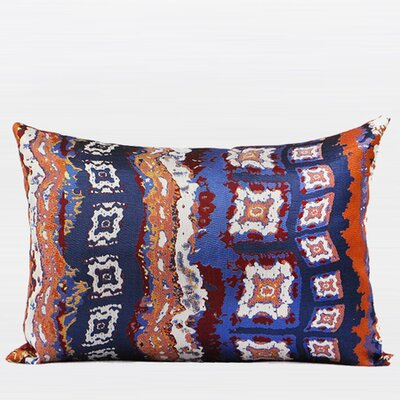 Luxury Tribe Jacquard Lumbar Pillow Color: Tangerine