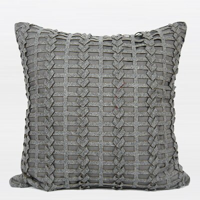 Luxury Handmade Textured Throw Pillow Color: Dark Gray