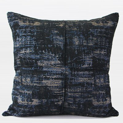 Luxury Metallic Chenille Pillow Cover Color: Blue
