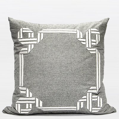 Luxury Textured Frame Embroidered Throw Pillow