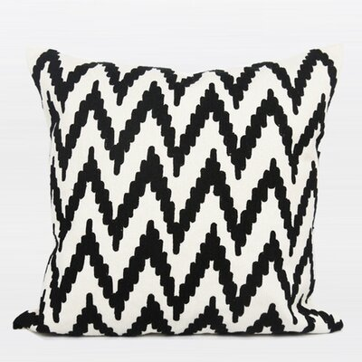 Luxury Chevron Pillow Cover Color: Black / White