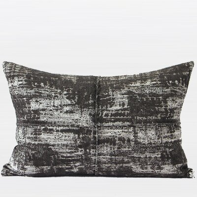 Luxury Metallic Chenille Lumbar Pillow Color: Brown