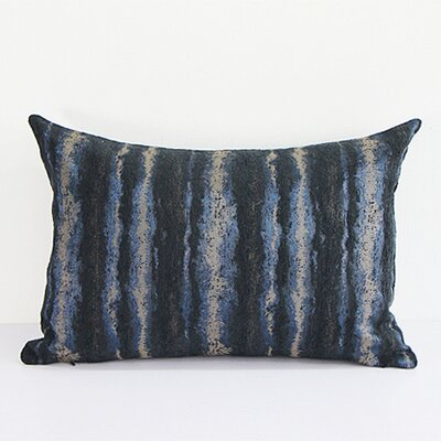Luxury Chenille Lumbar Pillow Color: Blue