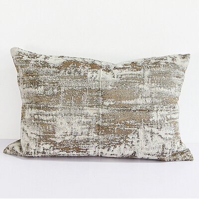 Luxury Metallic Chenille Lumbar Pillow Color: Light Gold