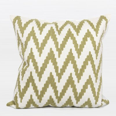 Luxury Chevron Pillow Cover Color: Green