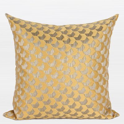 Luxury Arrows Jacquard Pillow Cover Color: Yellow