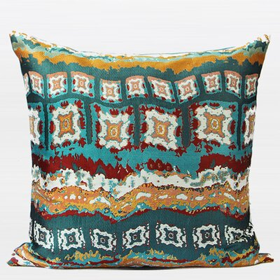 Luxury Tribe Jacquard Throw Pillow Color: Green