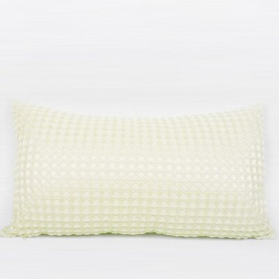 Luxury Textured Checkered Lumbar Pillow