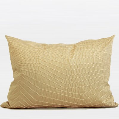Nonobjective Embroidered Line Pillow Cover Color: Gold